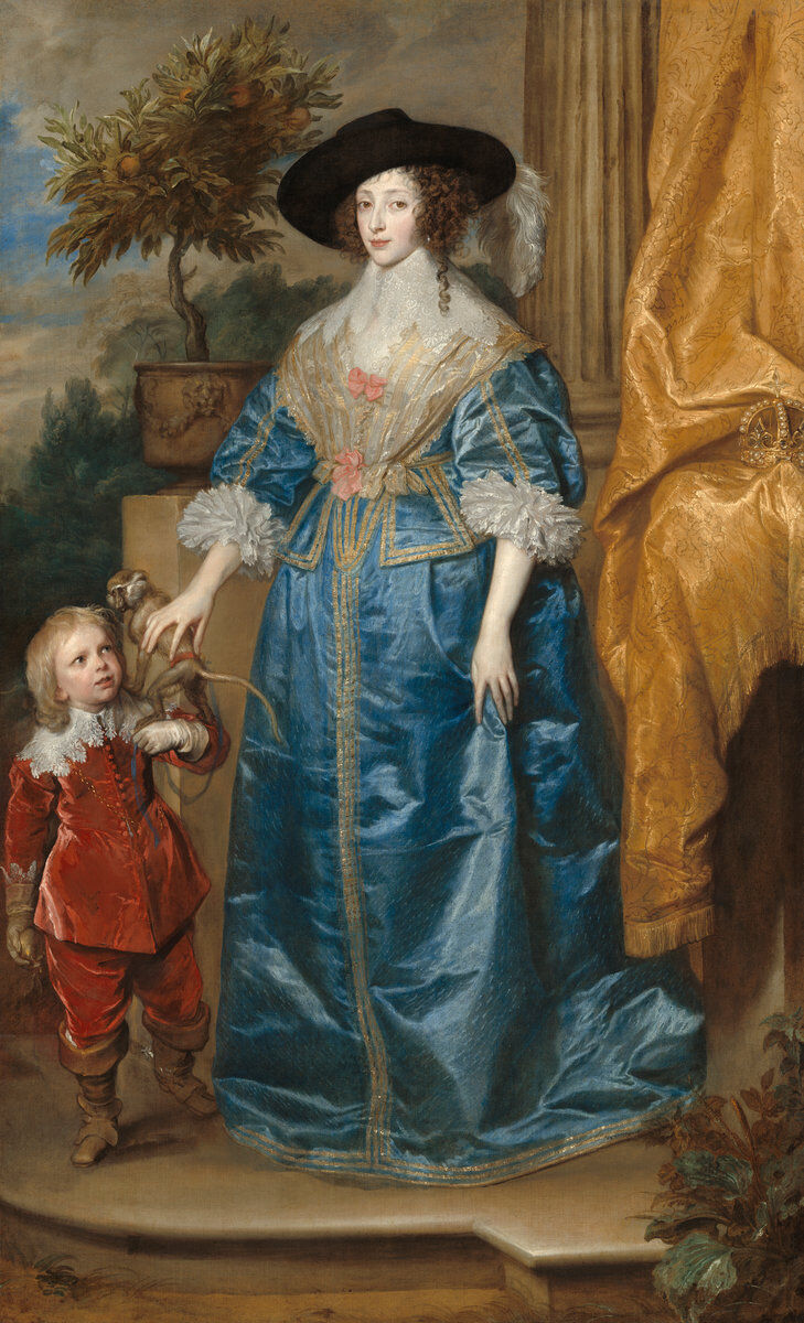 Sir Anthony van Dyck, Queen Henrietta Maria with Sir Jeffrey Hudson, 1633. Courtesy of the National Gallery of Art.
