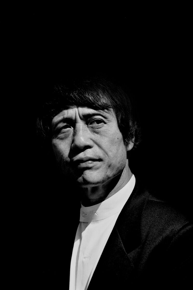 The Japanese architect Tadao Ando at the opening of the Langen Foundation's art exhibition house, Germany, in summer 2004. Photo by Christopher Schriner, via Flickr.