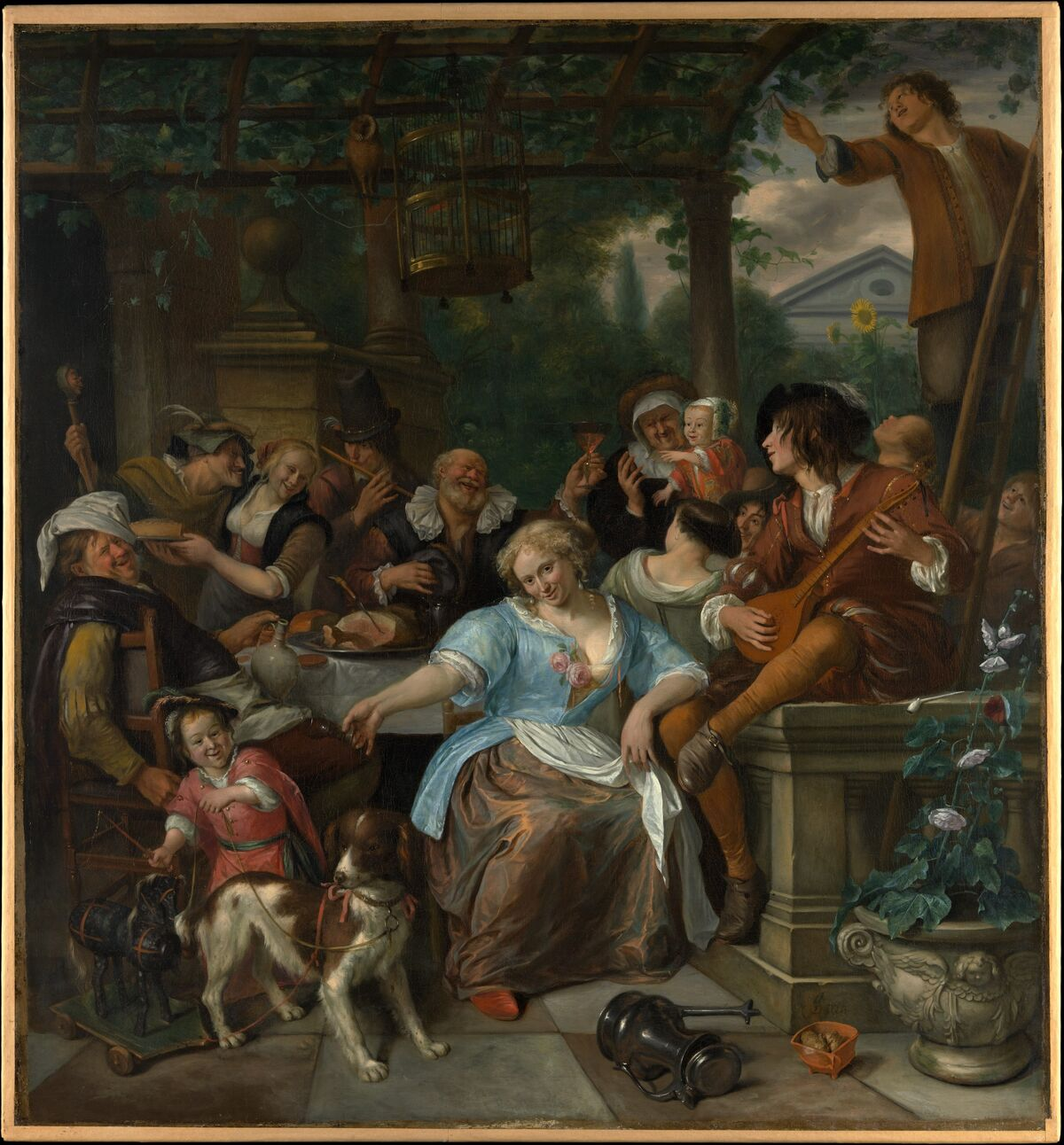 Jan Steen, Merry Company on a Terrace, ca. 1670. Courtesy of the Metropolitan Museum of Art.