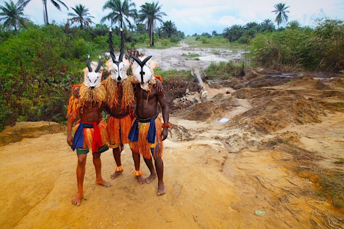 "Zina Saro-Wiwa, ""Brotherhood"" from the Kariko Pipeline video and photo series. Image courtesy of the artist."