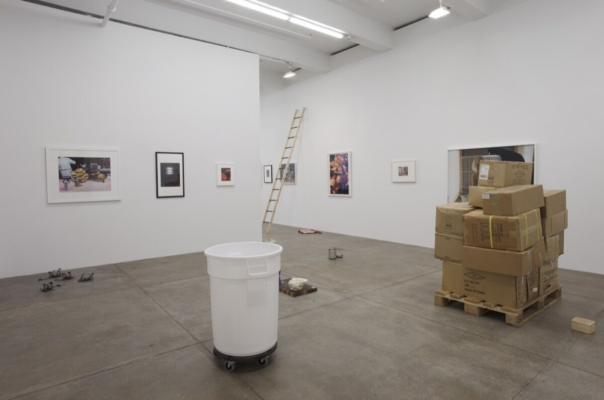 """Installation view of Darren Bader, """"untitled show"""" at Andrew Kreps Gallery, 2018. Courtesy of Andrew Kreps Gallery."""