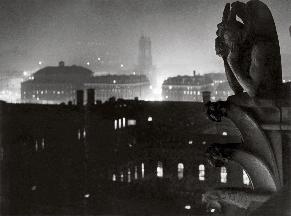 Brassaï,  View of Paris from Notre Dame, toward the Hôtel-Dieu and the Tour Saint-Jacques , 1933. © Estate Brassaï Succession, Paris. Courtesy of the Estate Brassaï Succession, Paris.