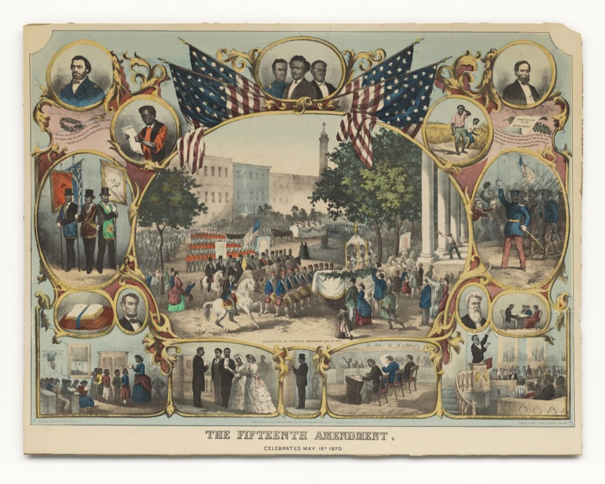Thomas Kelly,The Fifteenth Amendment. Celebrated May 19th 1870, 1870.Collection of the Smithsonian National Museum of African American History and Culture, Images courtesy of NMAAHC.