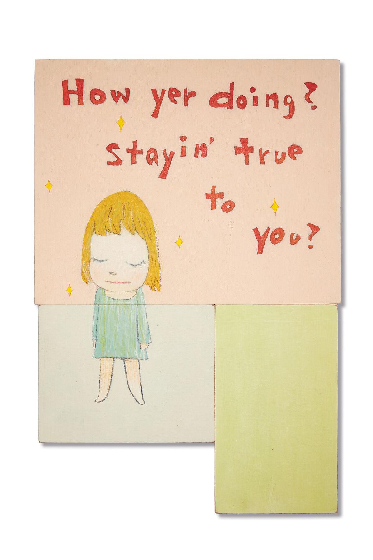 Yoshitomo Nara, How Yer Doing? Stayin' True to You?, 2006. Courtesy of Pace Gallery.