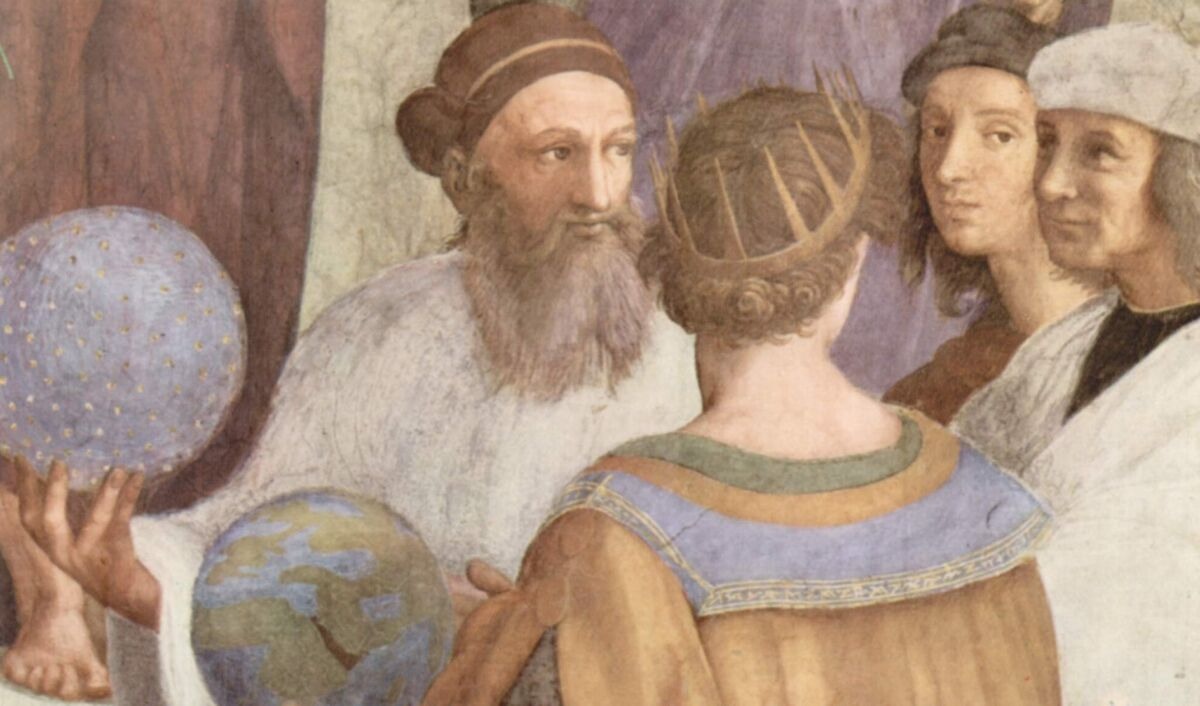 Detail from Raphael, The School of Athens, 1509–11. Image via Wikimedia Commons.