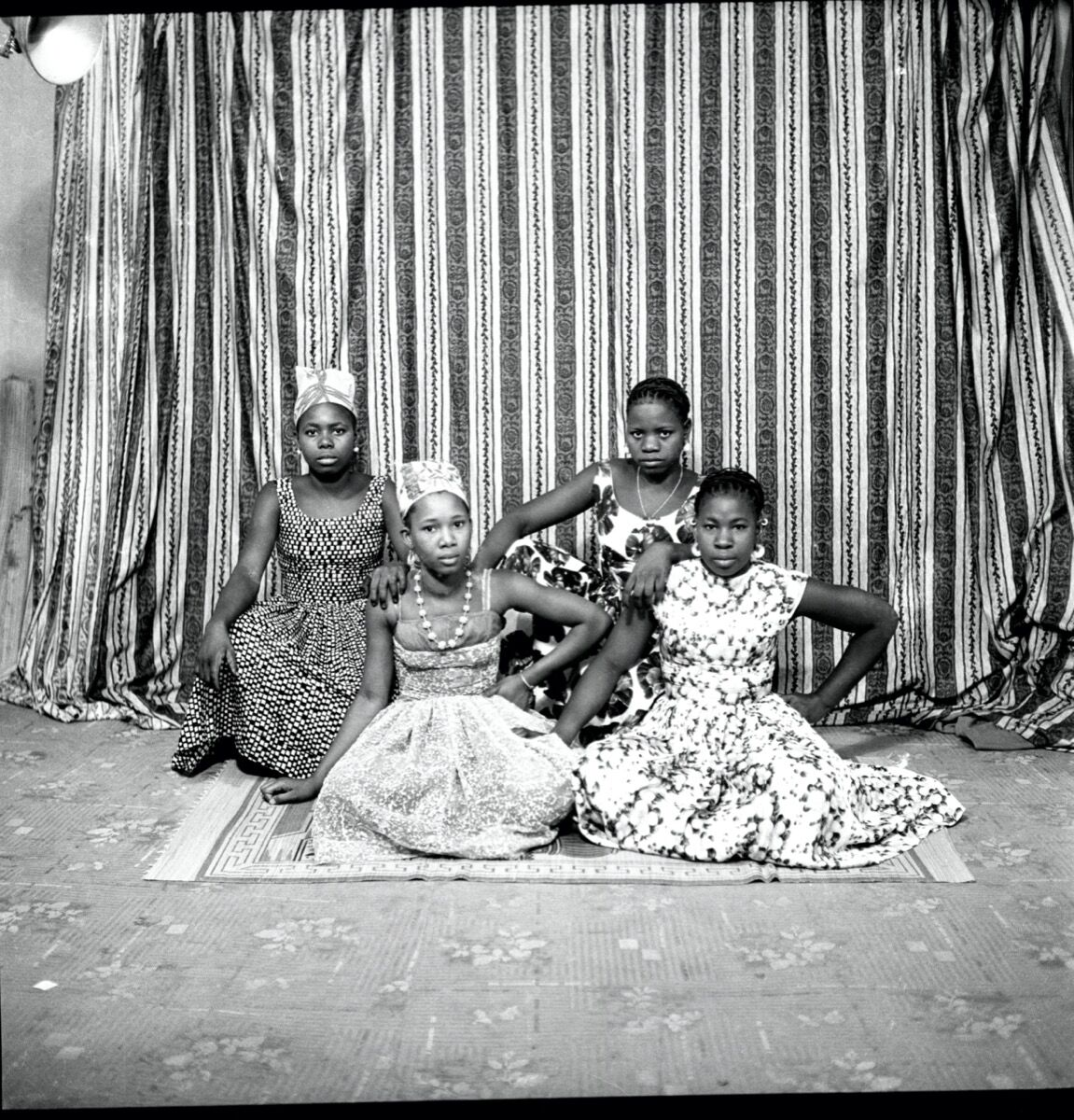 Abdourahmane Sakaly, Jeunes copines, May 1962, 1962. Courtesy of the artist and Black Shade Projects.