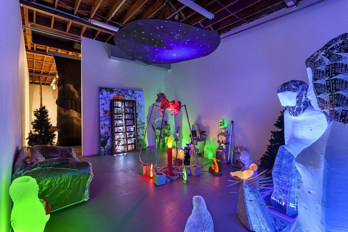 "Installation view of ""Beatriz Monteavaro: Nochebuena."" Courtesy of Locust Projects."