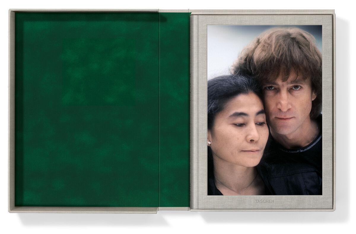 Kishin Shinoyama. John Lennon & Yoko Ono. Double Fantasy. Josh Baker. Hardcover volume in clamshell box, cloth-bound, 12.3 x 17.3 in., 174 pages 157/10× 114/5in39.9 × 30 cm.Edition of 125. Courtesy TASCHEN.