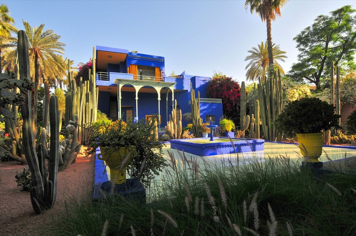 Jacques Majorelle's Jardin Majorelle in Marrakech. Image via Wikimedia Commons.