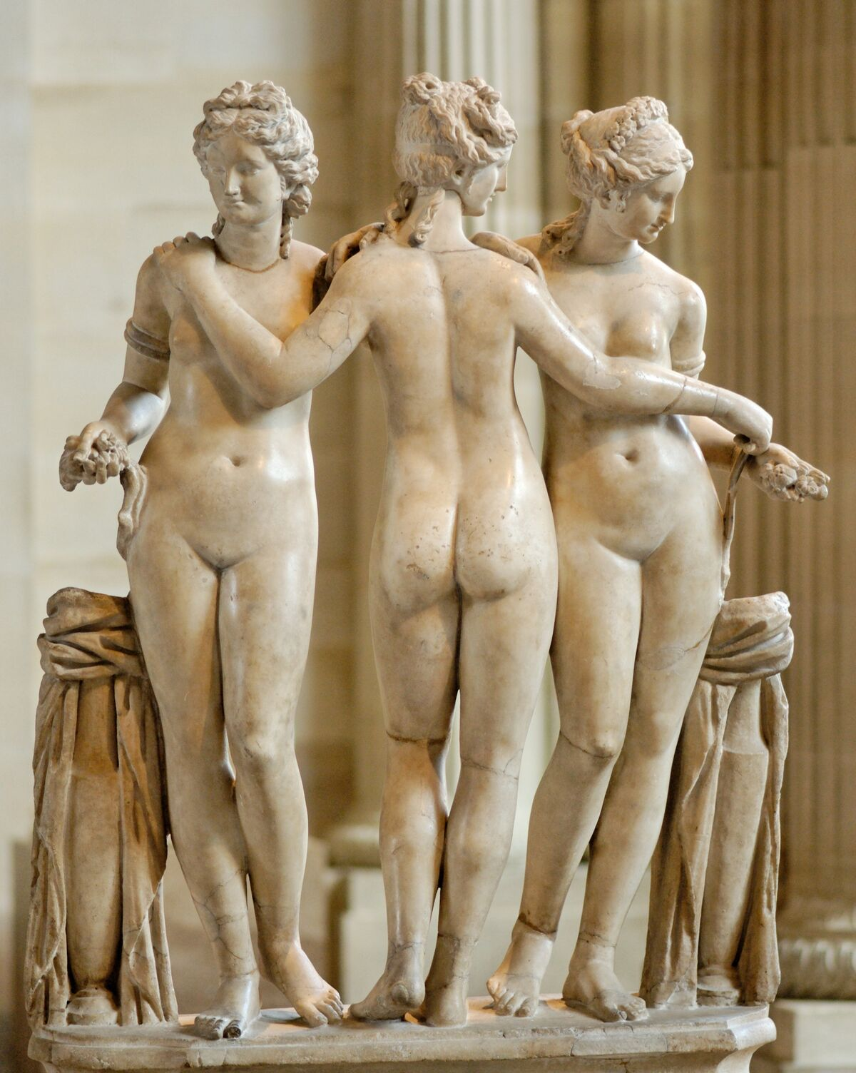 The Three Graces, Roman copy of the Imperial Era (2nd century C.E.?) after a Hellenistic original. Image via Wikimedia Commons.