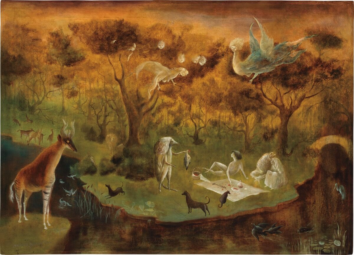 Leonora Carrington, Pastoral, 1950. © 2019 Estate of Leonora Carrington / Artists Rights Society (ARS), New York. Courtesy of Phillips.
