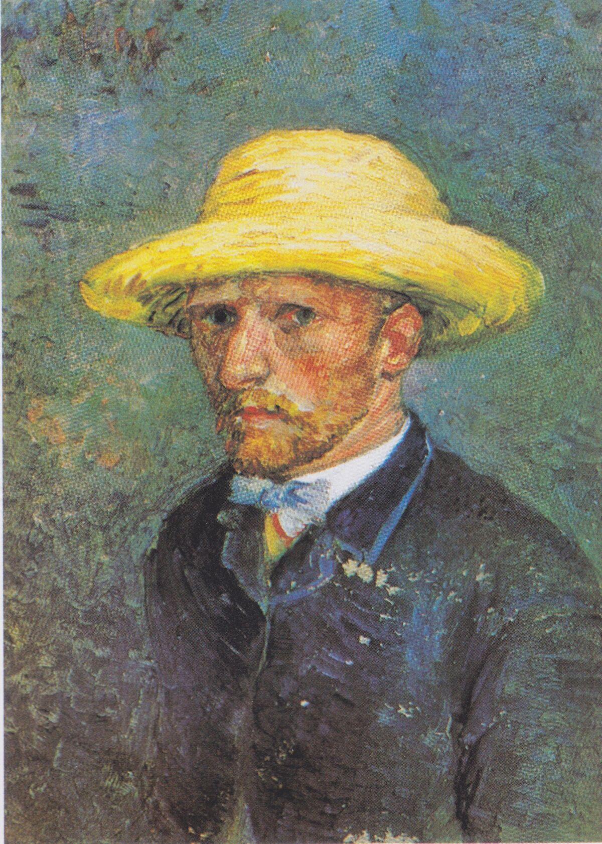 Vincent van Gogh, Portrait of Theo van Gogh, 1887. Photo via Wikimedia Commons.