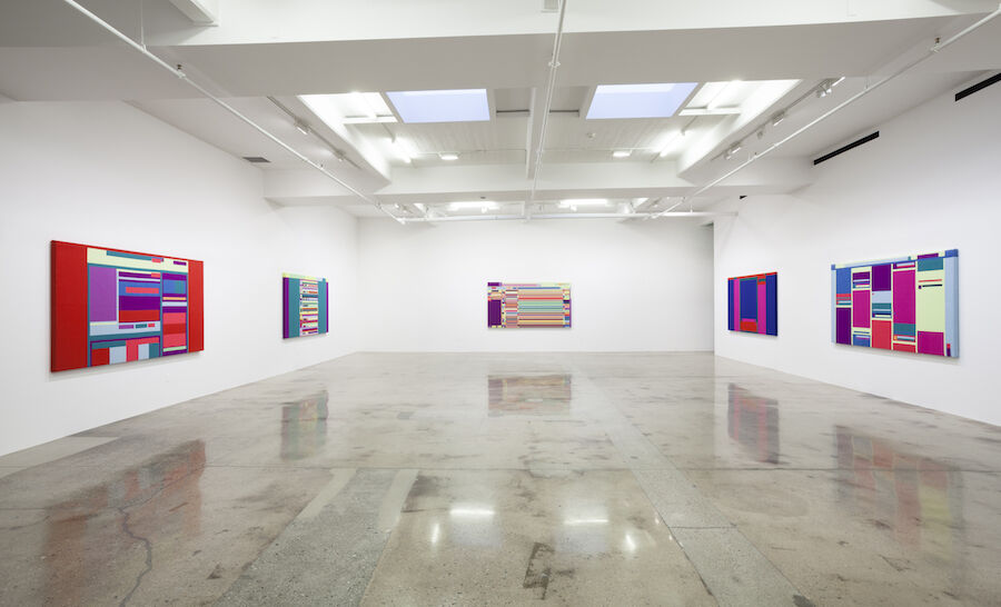 """Installation view of Rafaël Rozendaal, """"Abstract Browsing,"""" at Steve Turner, January 2016. Photo courtesy of Steve Turner."""