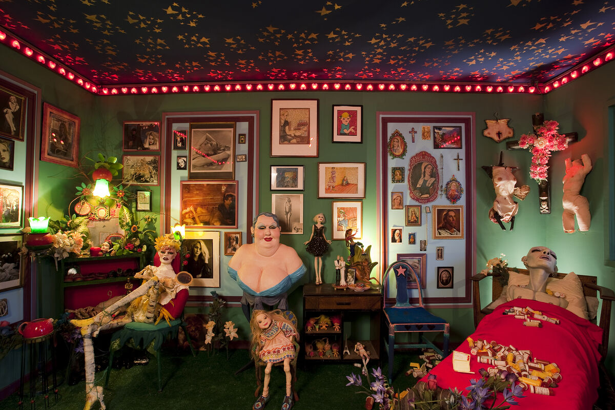 """Installation view of Greer Lankton, """"It's all about ME, Not You,"""" 2009. Courtesy of the Mattress Factory."""