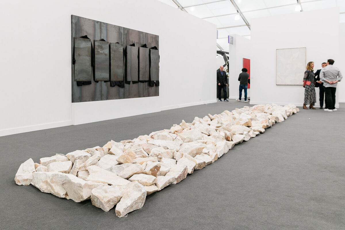 Installation view of Cardi Gallery's booth at Frieze New York, 2017. Photograph by Mark Blower. Courtesy of Mark Blower/Frieze.