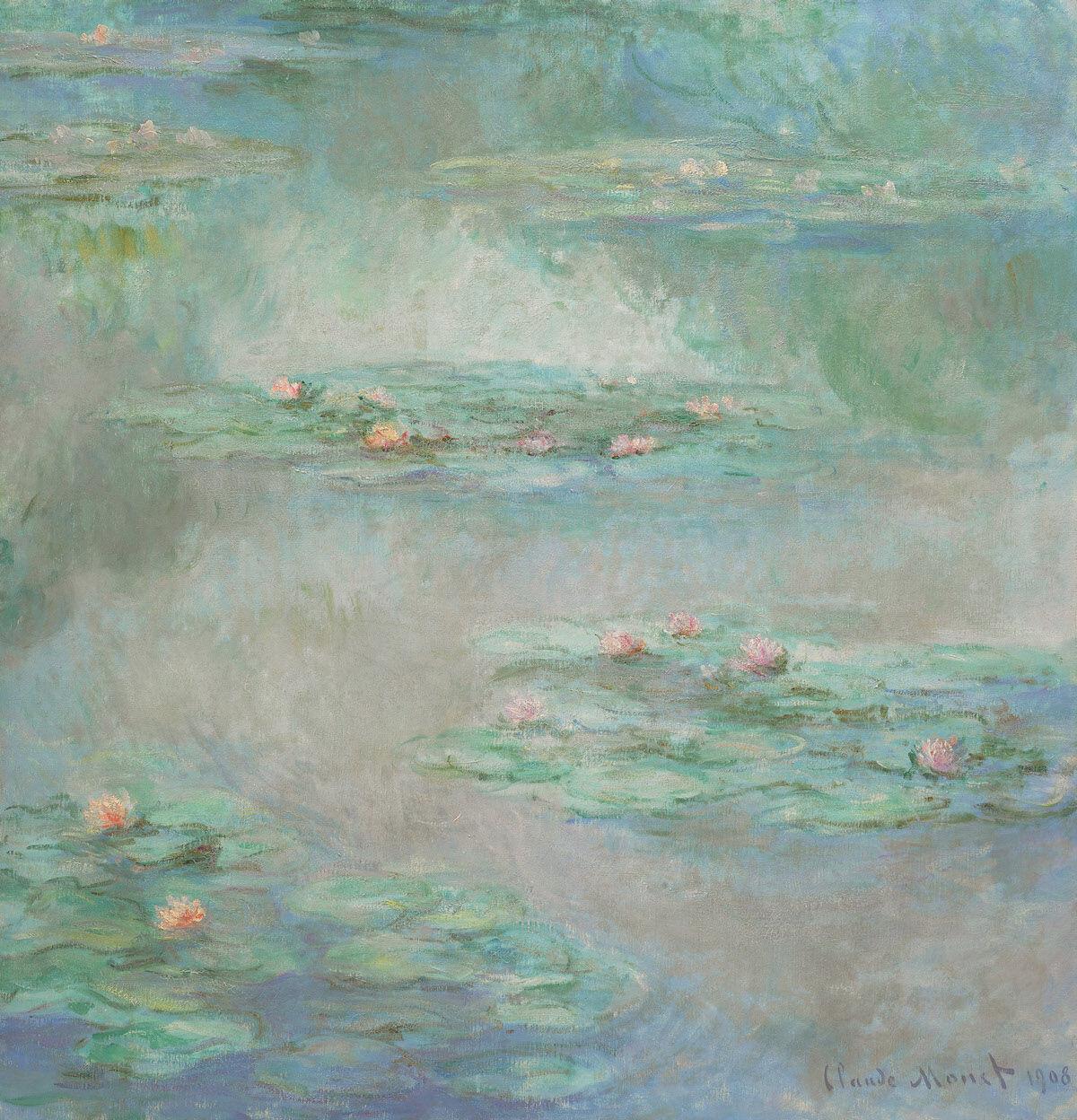Claude Monet, Nymphéas, 1908. Courtesy Sotheby's.
