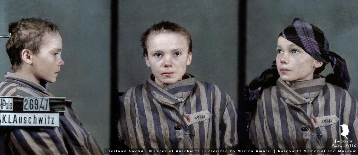 Czeslawa Kwoka. © Faces of Auschwitz/Marina Amaral/Auschwitz Memorial Museum.