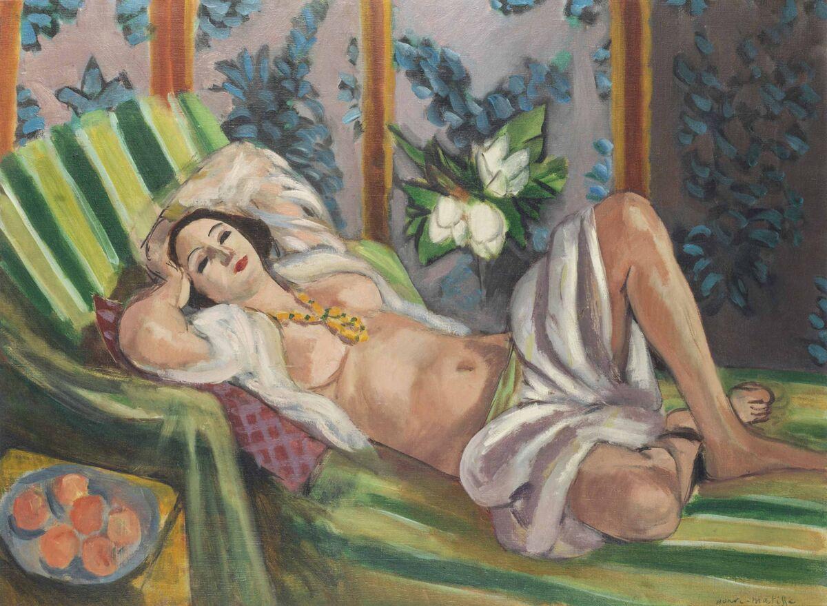 Henri Matisse, Odalisque couchée aux magnolias, 1923. Courtesy of Christie's.
