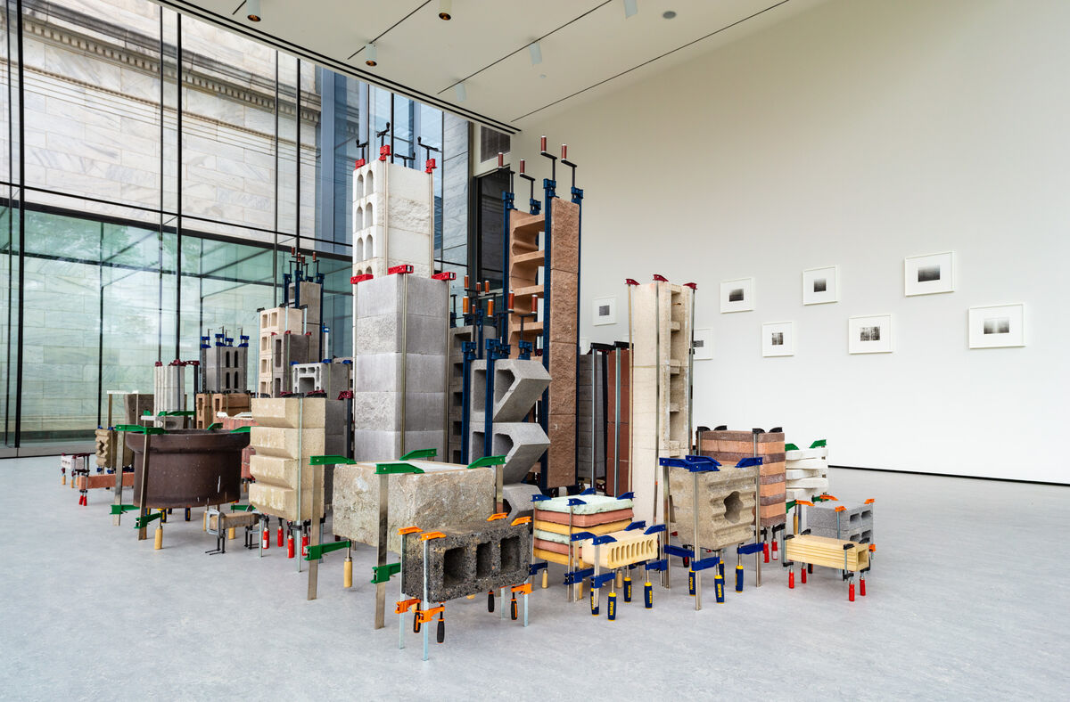 Installation view of Marlon de Azambuja, Brutalismo – Cleveland, at the Cleveland Museum of Art for FRONT International: Cleveland Triennial for Contemporary Art, 2018. Photo © Cleveland Museum of Art. Courtesy of Thomas Dane, London.