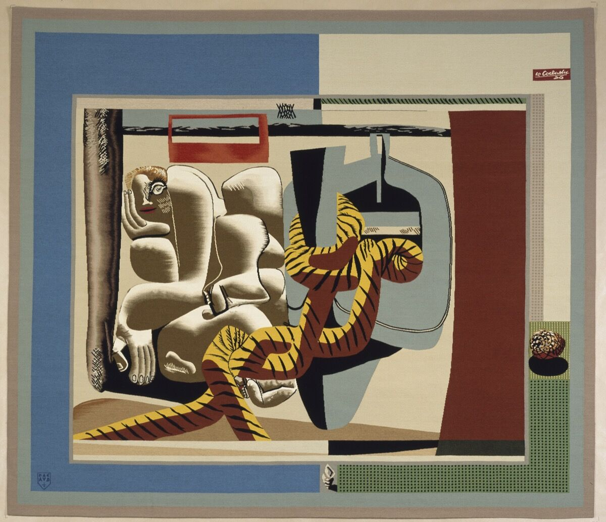 Le Corbusier, Marie Cuttoli,  1936. Wool and silk. © F.L.C. / ADAGP, Paris / Artists Rights Society (ARS), New York 2019. Courtesy of Fondation Le Corbusier, Paris and the Barnes Foundation, Philadelphia.