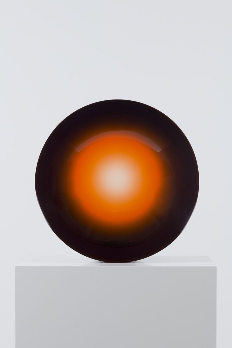 Fred Eversley, Untitled (parabolic lens), (1969) 2018. © Fred Eversley. Photo by Jeff McLane. Courtesy of David Kordansky Gallery and the UBS Art Collection.