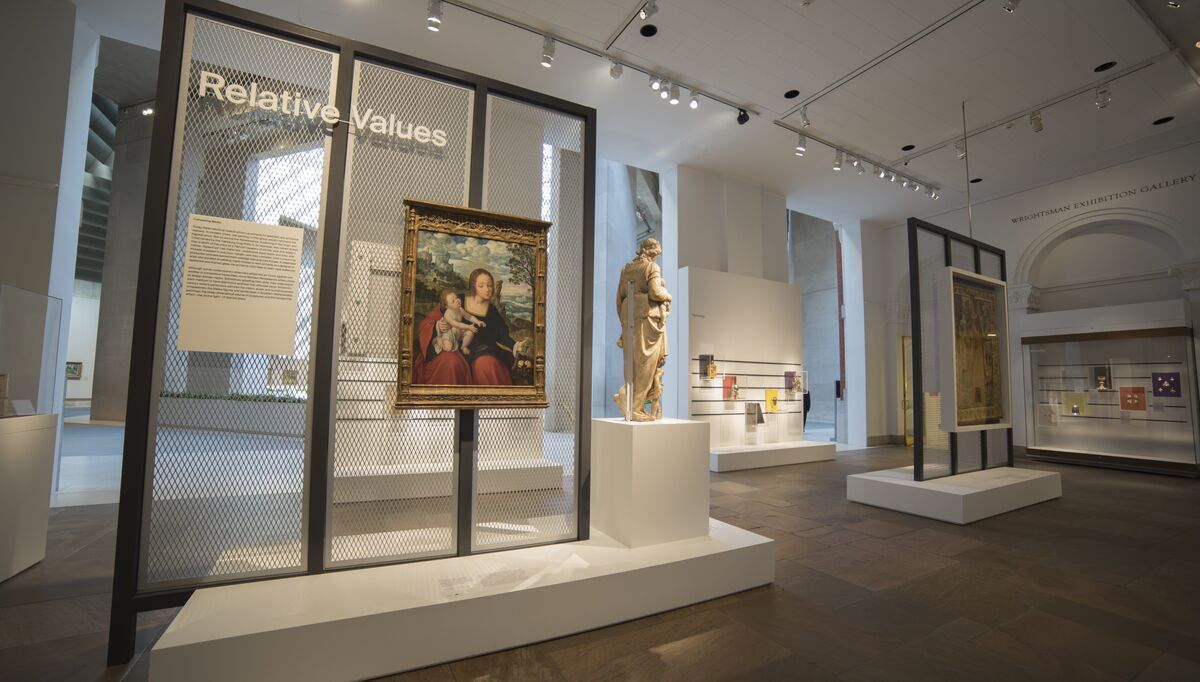 """Installation view of """"Relative Values."""" Photo by Rebecca Schear. Courtesy of the Metropolitan Museum of Art."""