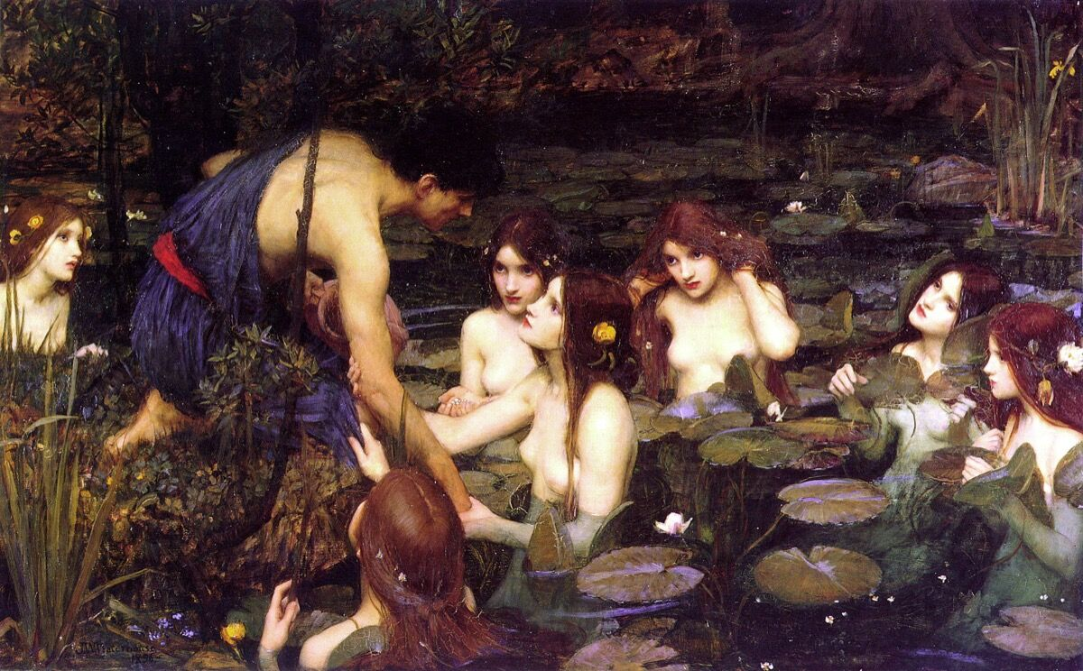 John William Waterhouse, Hylas and the Nymphs, 1896. Image via Wikimedia Commons.