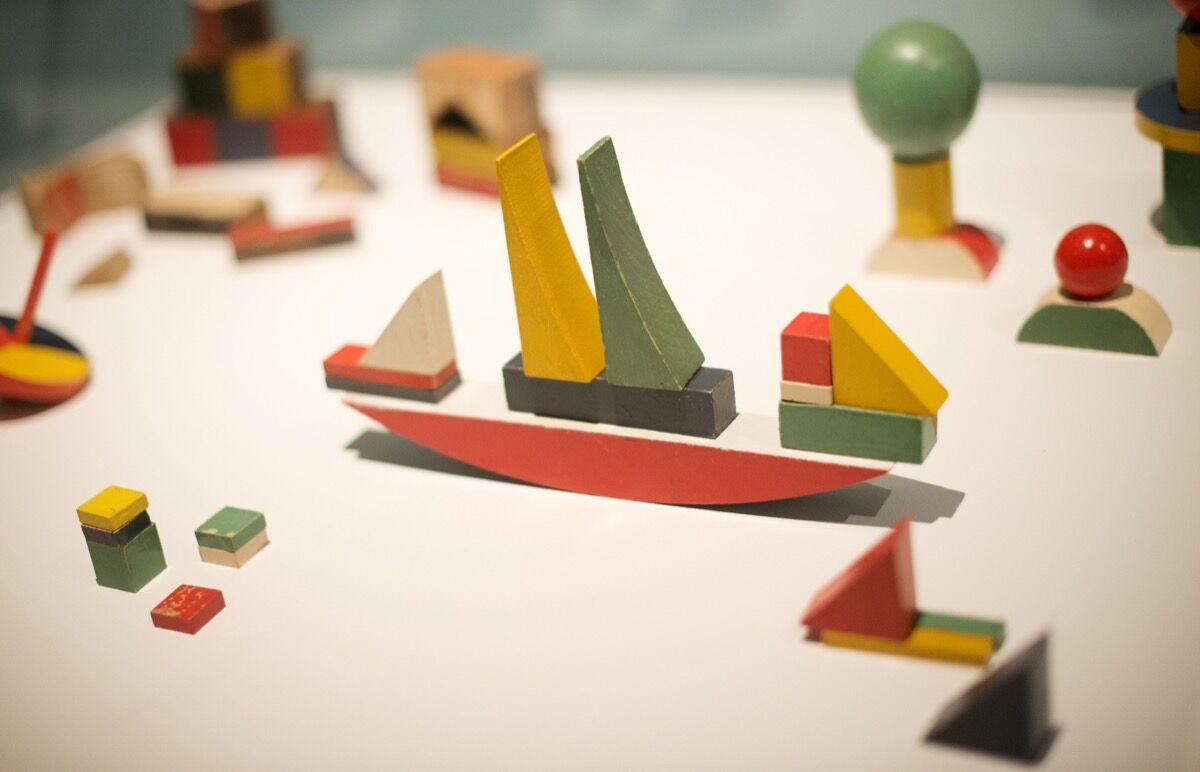 Ship Building Toy by Alma Siedhoff-Buscher. Photo by Leon NEAL/AFP/Getty Images.