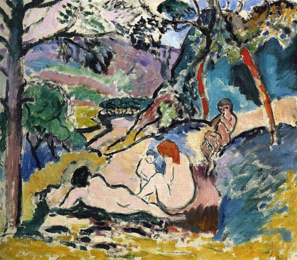 Henri Matisse,La Pastorale (Pastoral), 1905. © Henri Matisse.