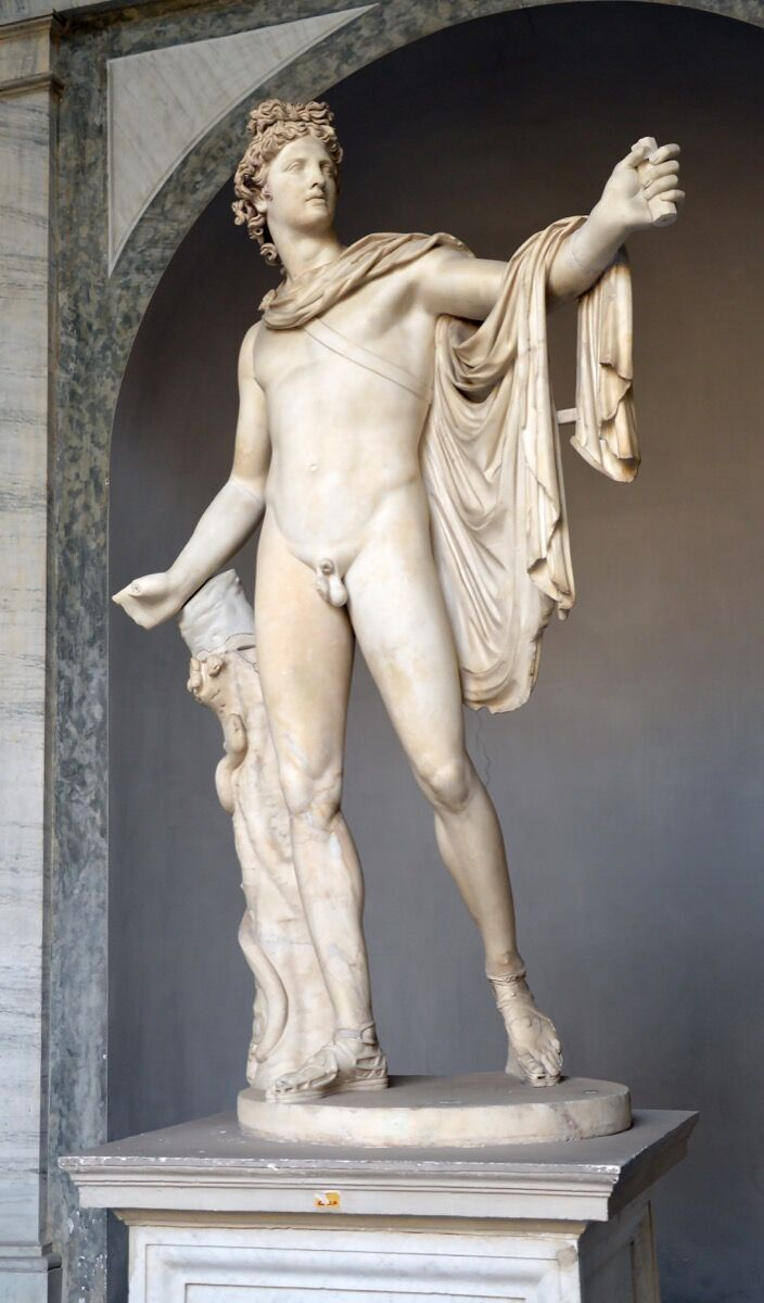 Apollo Belvedere, ca. 120–40 CE. Image via Wikimedia Commons.