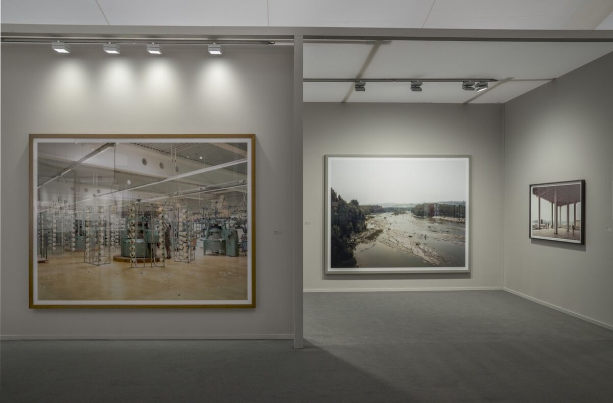 Installation view of work by Andreas Gursky in Sprüth Magers' booth at Frieze Masters, 2018. Photo © Kris Emmerson. Courtesy of the gallery.