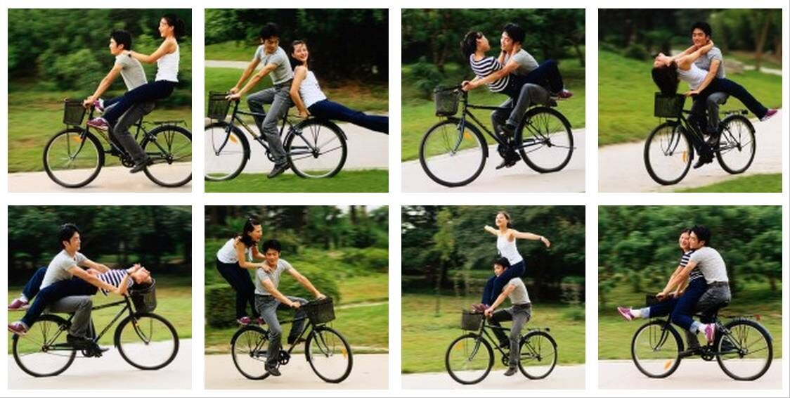 Yang Zhenzhong, Cycle Aerobics I, 1999. © Yang Zhenzhong. Courtesy of the artist and ShanghART Gallery.