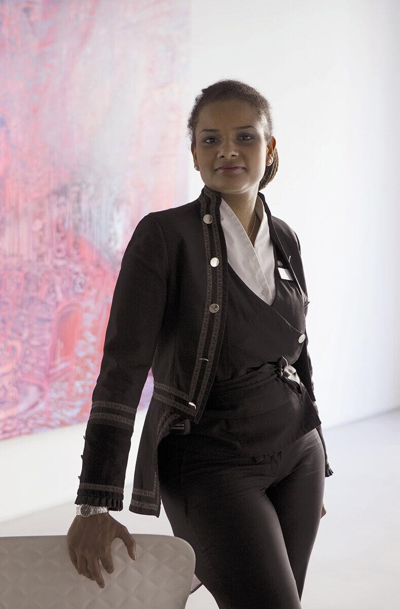 Portrait of Julie Eugène. Courtesy of Le Royal Monceau Raffles.