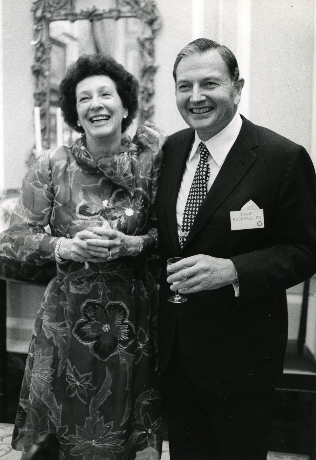"David Rockefeller and Margaret ""Peggy"" McGrath, 1973. Photo by Arthur Lavine. © Rockefeller Archive Center. Courtesy of Christie's."