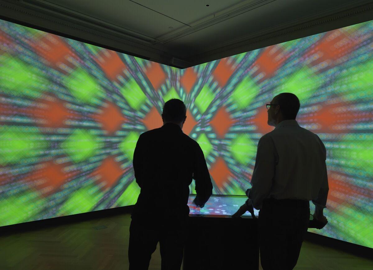 Installation view of Immersion Room. Photo: Matt Flynn © 2014 Cooper Hewitt, Smithsonian Design Museum.