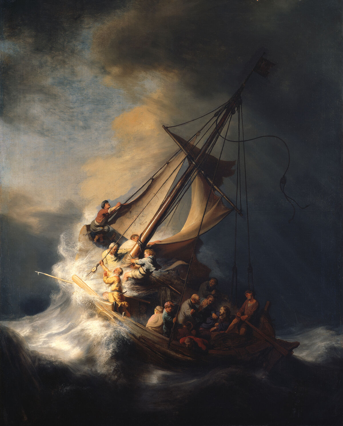 Rembrandt van Rijn, Christ in the Storm on the Sea of Galilee, 1633. Photo via the Isabella Stewart Gardner Museum.