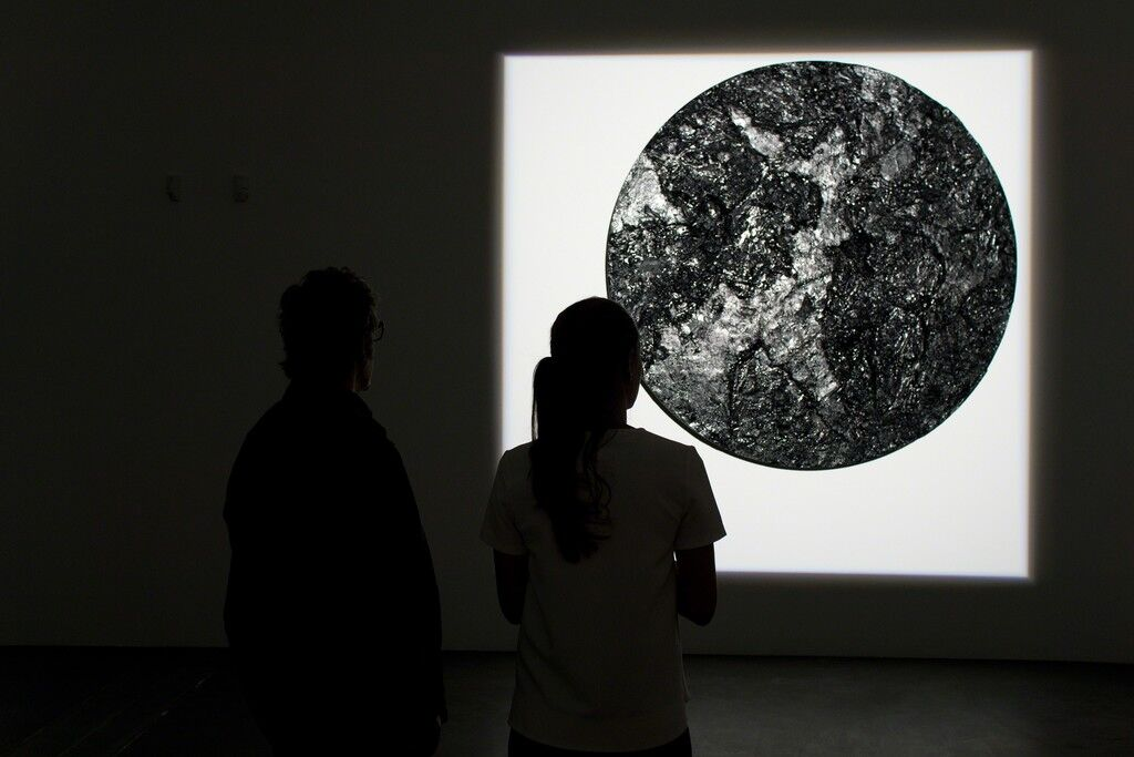 """Installation view of """"Robert Longo 'The Invention of Zero (after Malevich), 1991,'"""" at Galerie Hans Mayer, Düsseldorf. Courtesy Galerie Hans Mayer and the artist"""