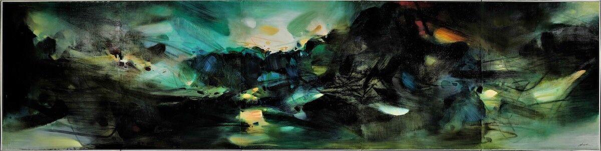 Chu Teh-Chun, Les Éléments Confédérés, 1983–84. Sold for HK$113,688,000 (US$1). Courtesy Sotheby's.