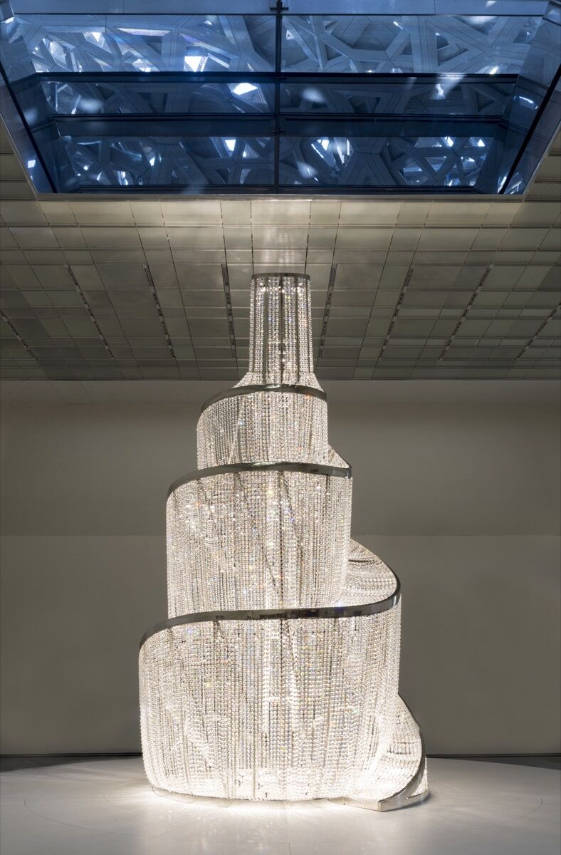 Ai Weiwei, Fountain of Light, 2016. Photo by Marc Domage. © Louvre Abu Dhabi. Courtesy of Louvre Abu Dhabi.
