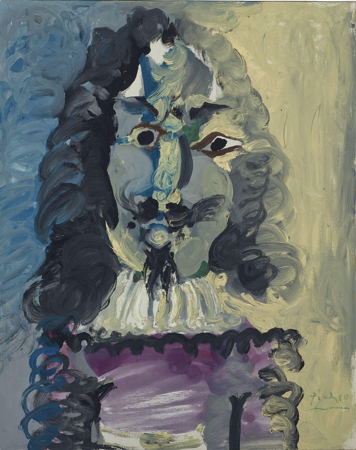 Pablo Picasso, Mousquetaire. Buste, 1967. Sold for €3.4 million ($3.8 million). Courtesy Christie's Images Ltd.