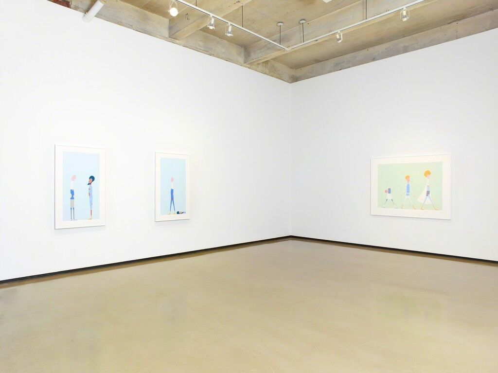 """Installation view of""""Laylah Ali: The Acephalous Series"""" at Paul Kasmin Gallery, New York. Courtesy Paul Kasmin Gallery and the artist."""