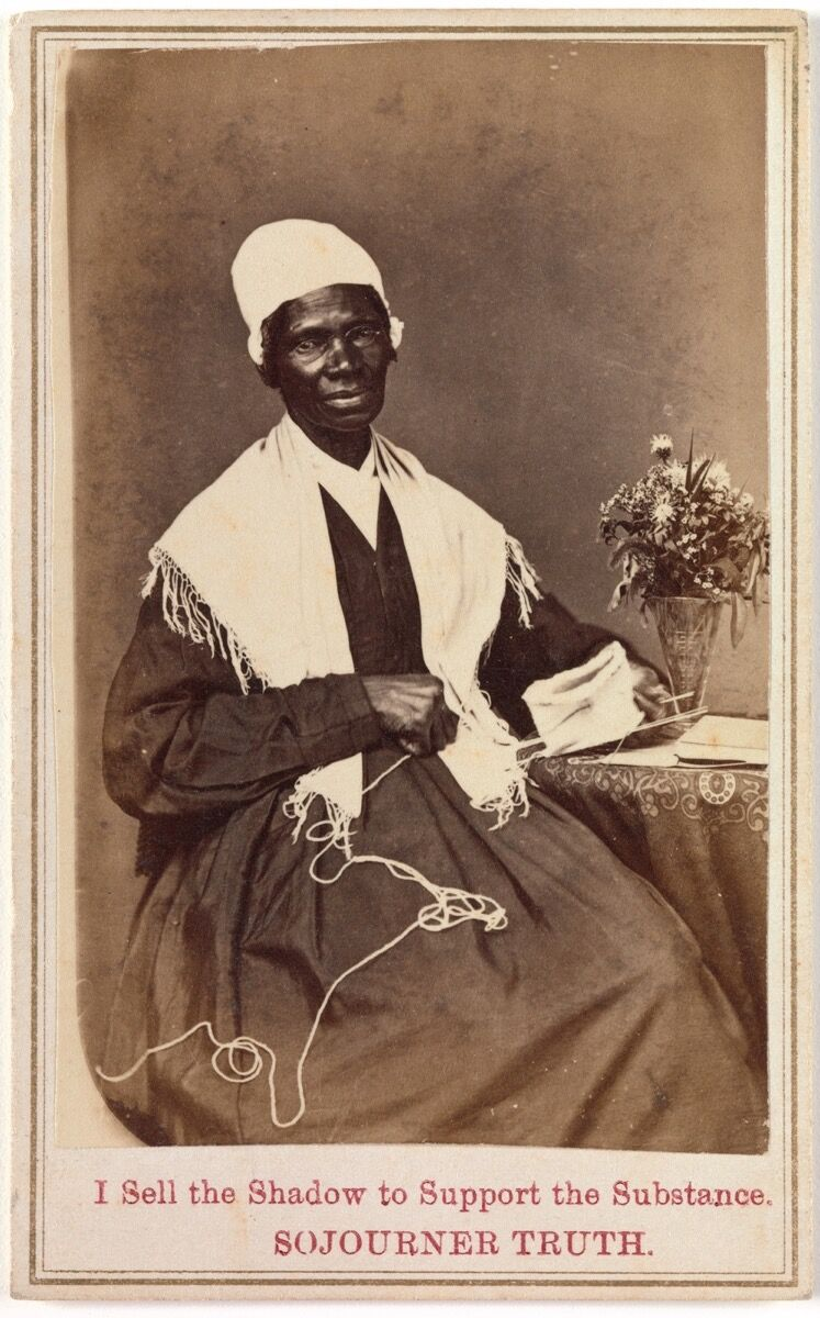 Sojourner Truth, 19th century. Image via Wikimedia Commons.