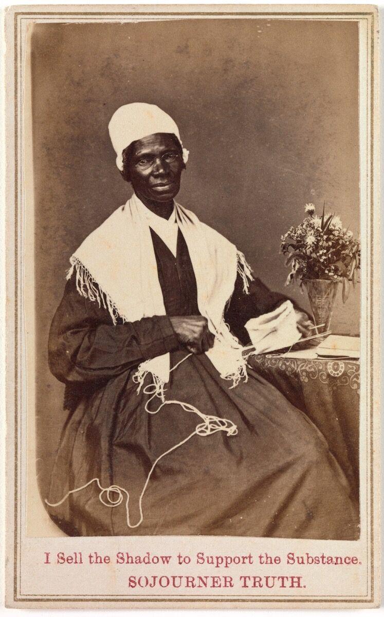 Sojourner Truth, del siglo XIX.  Imagen vía Wikimedia Commons.