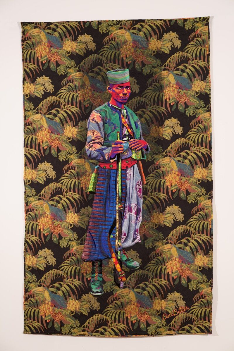 Bisa Butler, Zouave, 2020. Courtesy of the artist and Claire Oliver Gallery, New York.