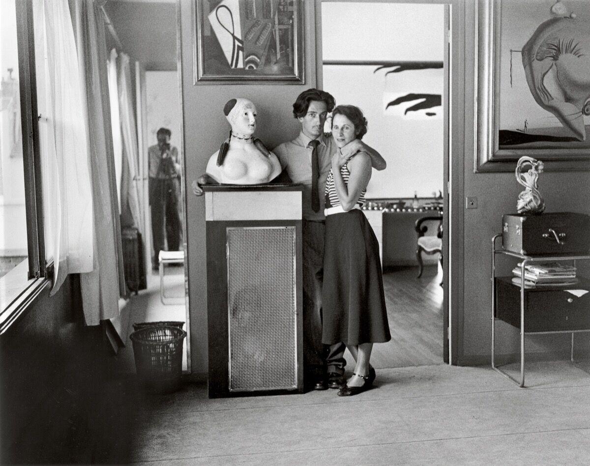 Brassaï,  Salvador Dalí and Gala, Villa Seurat, Paris , 1932–33, printed posthumously. © Estate Brassaï Succession, Paris. Courtesy of the Estate Brassaï Succession, Paris.