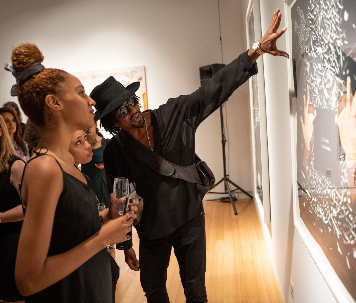 "Q-Tip at ""Q-Tip: The Collection,"" at Bonhams, 2019. Courtesy of Bonhams."