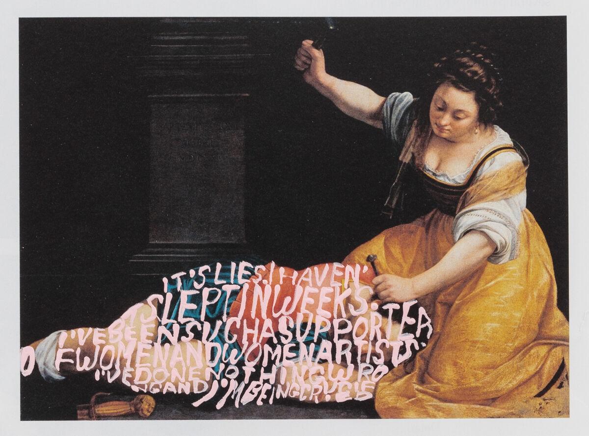 Betty Tompkins, Apologia (Artemisia Gentileschi #3), 2018. Courtesy of Betty Tompkins and P.P.O.W, New York.