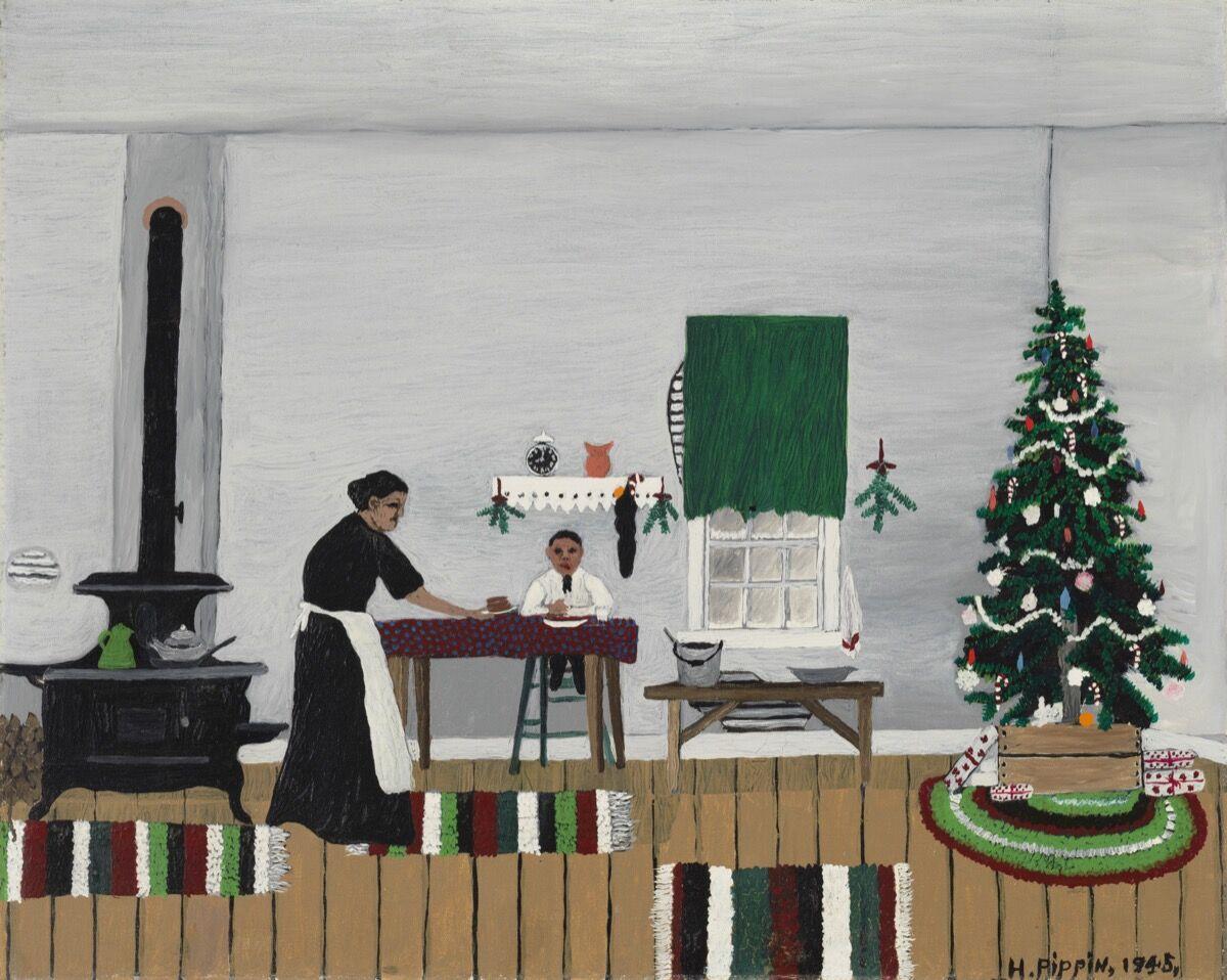 Horace Pippin,  Christmas Morning, Breakfast,  1945. Courtesy of the Cincinnati Art Museum.