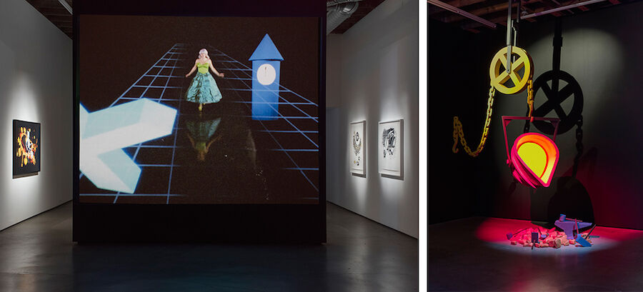 "Installation views of Ericka Beckman, ""Cinderella,"" at Cherry and Martin. Photos courtesy of Cherry and Martin."