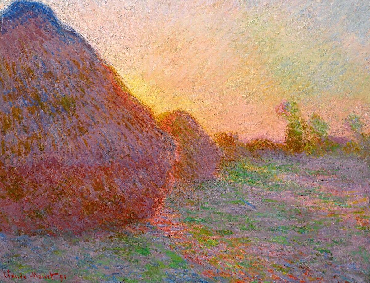 Claude Monet, Meules, 1890. Est. $55 million. Courtesy Sotheby's.